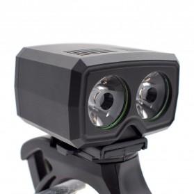ZACRO Headlamp Lampu Sepeda USB Rechargerable CREE Dual XML-T6 - Y15 - Black - 4
