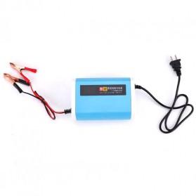 Charger Baterai Aki Mobil Motor LCD Display 12V 6A - YX12V6A-4 - Blue