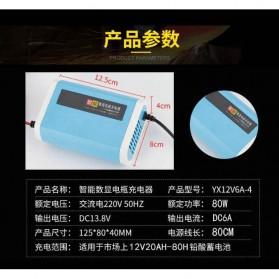 Charger Baterai Aki Mobil Motor LCD Display 12V 6A - YX12V6A-4 - Blue - 7
