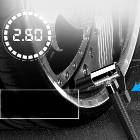 AIKEZI Inflator Pompa Angin Ban Mobil Elektrik 150 PSI LCD Display - AKS-5501 - Black - 4