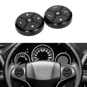 T-3 Smart Universal Car Steering Wireless Remote Control Musik GPS DVD - T-301 - Black
