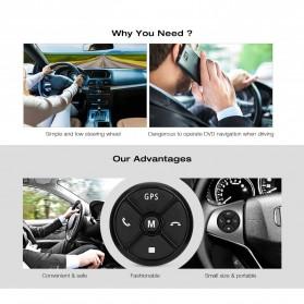 T-3 Smart Universal Car Steering Wireless Remote Control Musik GPS DVD - T-301 - Black - 2