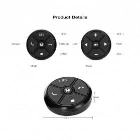 T-3 Smart Universal Car Steering Wireless Remote Control Musik GPS DVD - T-301 - Black - 3