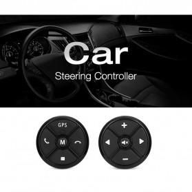 T-3 Smart Universal Car Steering Wireless Remote Control Musik GPS DVD - T-301 - Black - 9