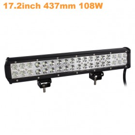 AUXMOTEC Lampu LED Combo Spot + Flood Lightbar Mobil Truck ATV SUV 4WD 17.2 Inch 108W - A8 - Black - 1