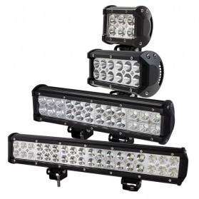 AUXMOTEC Lampu LED Combo Spot + Flood Lightbar Mobil Truck ATV SUV 4WD 17.2 Inch 108W - A8 - Black - 8