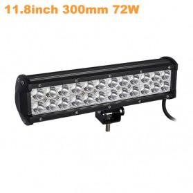 Weketory Lampu LED Spot Lightbar Mobil Truck ATV SUV 4WD 11.8 Inch 72W - C-72W - Black