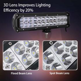 Weketory Lampu LED Spot Lightbar Mobil Truck ATV SUV 4WD 11.8 Inch 72W - C-72W - Black - 2