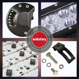 Weketory Lampu LED Spot Lightbar Mobil Truck ATV SUV 4WD 11.8 Inch 72W - C-72W - Black - 5