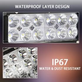 Weketory Lampu LED Spot Lightbar Mobil Truck ATV SUV 4WD 11.8 Inch 72W - C-72W - Black - 6