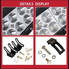 Weketory Lampu LED Spot Lightbar Mobil Truck ATV SUV 4WD 11.8 Inch 72W - C-72W - Black - 7
