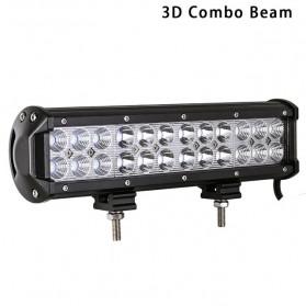 Lampu LED Combo Spot + Flood Lightbar Mobil Truck ATV SUV 4WD 11.8 Inch 72W - A8 - Black