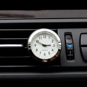 Chaoyu Dekorasi Mobil Jam Mini Car Air Vent Quartz Watch - ML-802 - Silver