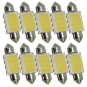Lampu Interior Mobil LED COB Dome Light 41mm c5w BA9S 1 PCS - White - 4