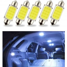 Lampu Interior Mobil LED COB Dome Light 36mm c5w BA9S 1 PCS - White