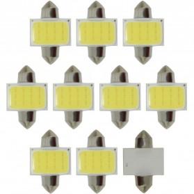 Lampu Interior Mobil LED COB Dome Light 36mm c5w BA9S 1 PCS - White - 2