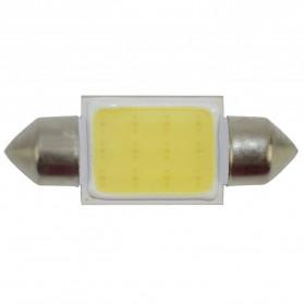 Lampu Interior Mobil LED COB Dome Light 36mm c5w BA9S 1 PCS - White - 5