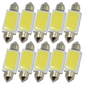 Lampu Interior Mobil LED COB Dome Light 39mm c5w BA9S 1 PCS - White - 3