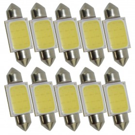 Lampu Interior Mobil LED COB Dome Light 39mm c5w BA9S 1 PCS - White - 4