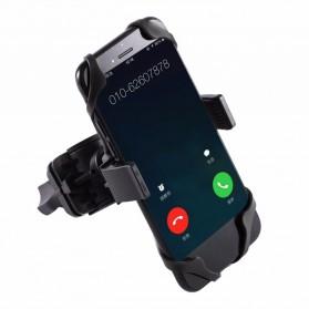 TaffSPORT Bike Smartphone Holder Sepeda Universal Rack Bicycle - BM03 - Black - 2