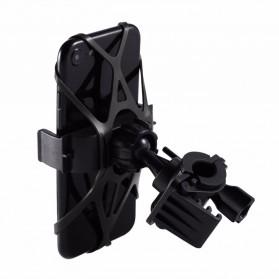 TaffSPORT Bike Smartphone Holder Sepeda Universal Rack Bicycle - BM03 - Black - 3