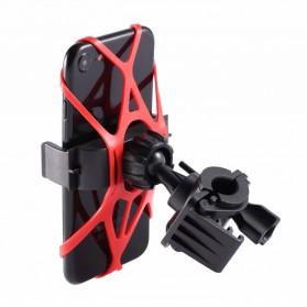 TaffSPORT Bike Smartphone Holder Sepeda Universal Rack Bicycle - BM03 - Black - 9