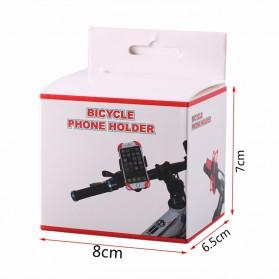 TaffSPORT Bike Smartphone Holder Sepeda Universal Rack Bicycle - BM03 - Black - 10