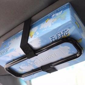 Tempat Tisu Mobil Sun Visor Tissue Box Holder - YH-098 - Black