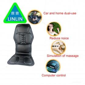 Wan Nian Kang Cover Jok Kursi Pijat Mobil Massage Vibrate Car Seat - X01 - Black - 2