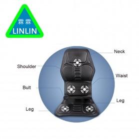 Wan Nian Kang Cover Jok Kursi Pijat Mobil Massage Vibrate Car Seat - X01 - Black - 4