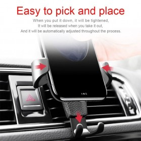 TORRAS Smartphone Air Vent Car Holder - YC001 - Black - 4