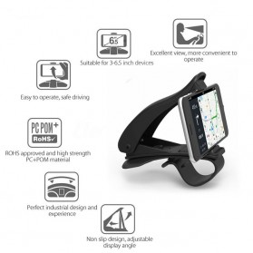 SEAMETAL Mount Holder Smartphone Mobil 360 Degree Rotation - C38587 - Black - 2
