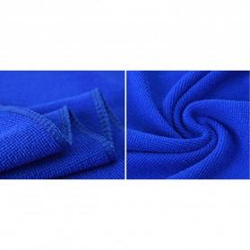 EACHGO Handuk Mikrofiber Lap Pengering Mobil 25 x 25 CM - WJJD201 - Blue - 2