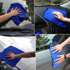 EACHGO Handuk Mikrofiber Lap Pengering Mobil 25 x 25 CM - WJJD201 - Blue - 5