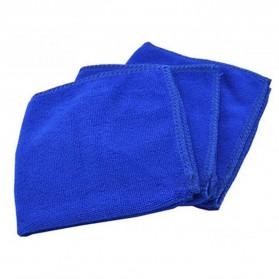 EACHGO Handuk Mikrofiber Lap Pengering Mobil 25 x 25 CM - WJJD201 - Blue - 8