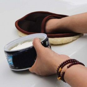 BU-Bauty Sarung Tangan Kain Lap Mobil Waxing Polish Gloves Wool - CSL2017 - Brown - 4
