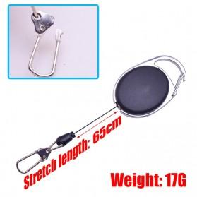 WDAIREN Gantungan Kunci Retractable Telescopic Buckle Keychain - DQ21 - Black