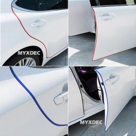 KAHNOS Rubber Strip Dekorasi Pintu Mobil Anti Collision 5M - QW557 - White - 4