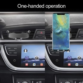 OBSHI Parfum Mobil Air Vent Clip Aroma Ocean Sticks with Smartphone Car Holder - FA1797 - Black - 5