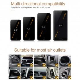 OBSHI Parfum Mobil Air Vent Clip Aroma Ocean Sticks with Smartphone Car Holder - FA1797 - Black - 9