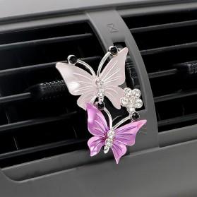 YOSOLO Parfum Mobil Air Vent Car Parfume Desain Kupu-Kupu - 14002 - Purple