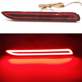 MATRIX Lampu Rem Reflektor Bumper Mobil Car Tail Brake LED Red Light - 200SX - Red