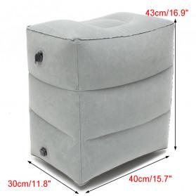 YMQY Bantal Angin Senderan Kaki Portable Inflatable Footrest Pillow - BAT24 - Black - 2