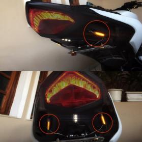 MALUOKASA Lampu Indikator Rem dan Sein Sepeda Motor 12 LED 2PCS - QM202 - Black - 2