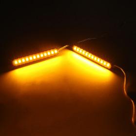 MALUOKASA Lampu Indikator Rem dan Sein Sepeda Motor 12 LED 2PCS - QM202 - Black - 5