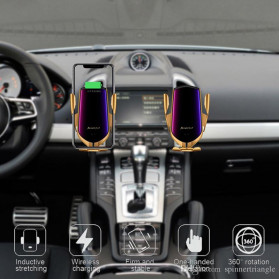 INIU Smartphone Car Holder Luxury with Qi Wireless Charger - R1 - Silver - 4