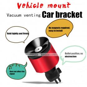 INIU Car Holder Smartphone Vaccum Holder Air Vent 2 in 1 - IN03 - Black - 2