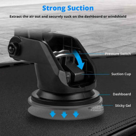 INIU Smartphone Car Holder with Qi Wireless Charger - IN08 - Black - 2