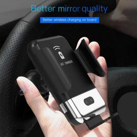 INIU Smartphone Car Holder with Qi Wireless Charger - IN08 - Black - 3