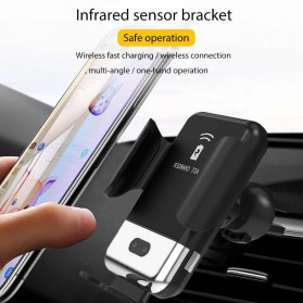INIU Smartphone Car Holder with Qi Wireless Charger - IN08 - Black - 4